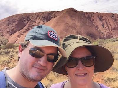 Charles and Donna at Uluru