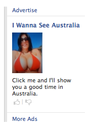 Click me and I'll show you a good time in Australia