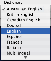 Australian English, British English, Canadian English, Deutsch, English...